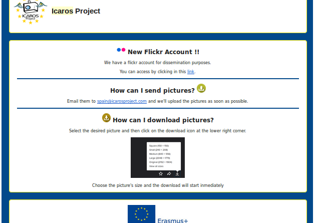 Example of the ICAROS campaign